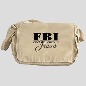 Firm Believer in Jesus Messenger Bag