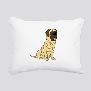 Cute English Mastiff Dog Rectangular Canvas Pillow