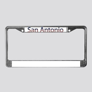 San Antonio Stars and Stripes License Plate Frame