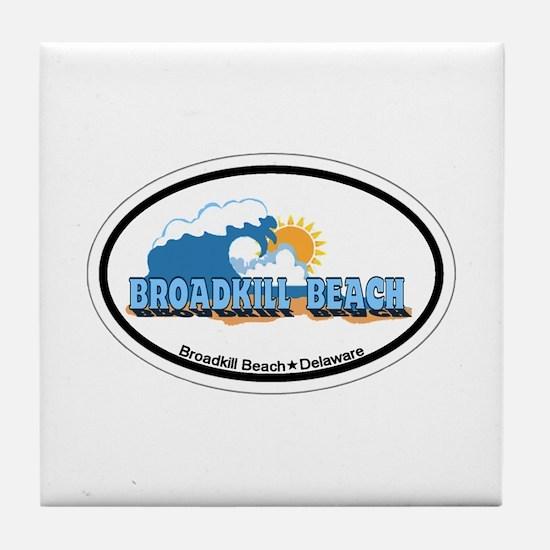 Broadkill Beach DE - Oval Design Tile Coaster