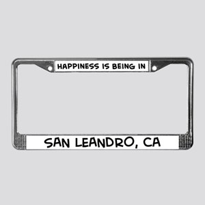 Happiness is San Leandro License Plate Frame