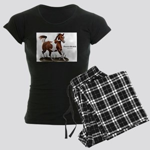Pinto Horse Women's Dark Pajamas