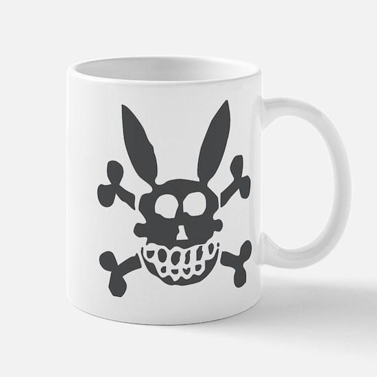 Halloween Smiling Rabbit Skull Mug