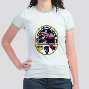 USS Columbia Welcome Home Jr. Ringer T-Shirt