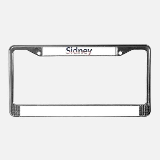 Sidney Stars and Stripes License Plate Frame