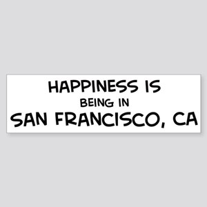 Happiness is San Francisco Bumper Sticker