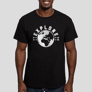 Explore Men's Fitted T-Shirt (dark)