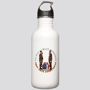 We Will Always Remember Stainless Water Bottle 1.0