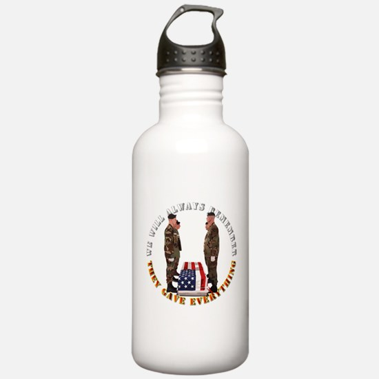 We Will Always Remember Sports Water Bottle