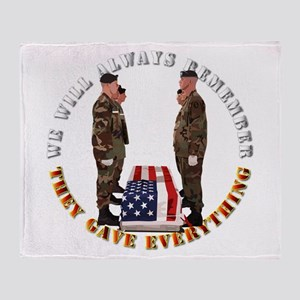 We Will Always Remember Throw Blanket