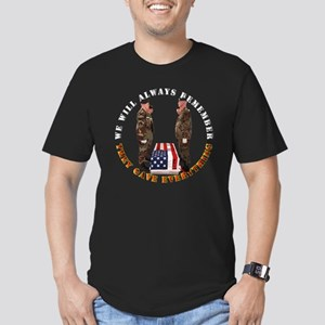We Will Always Remember Men's Fitted T-Shirt (dark