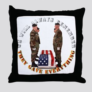 We Will Always Remember Throw Pillow