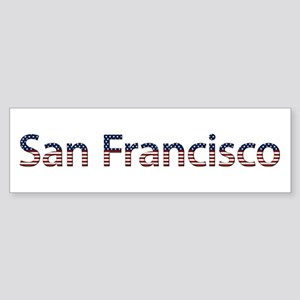 San Francisco Stars and Stripes Bumper Sticker