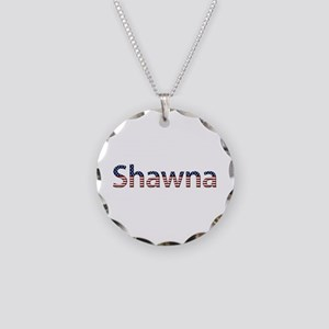Shawna Stars and Stripes Necklace Circle Charm