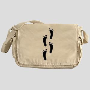 Footprints Messenger Bag