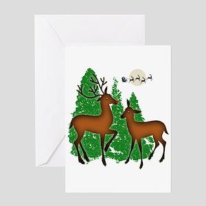Cute Christmas Reindeer Greeting Card