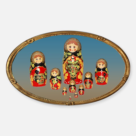 Russian Dolls Sticker (Oval)