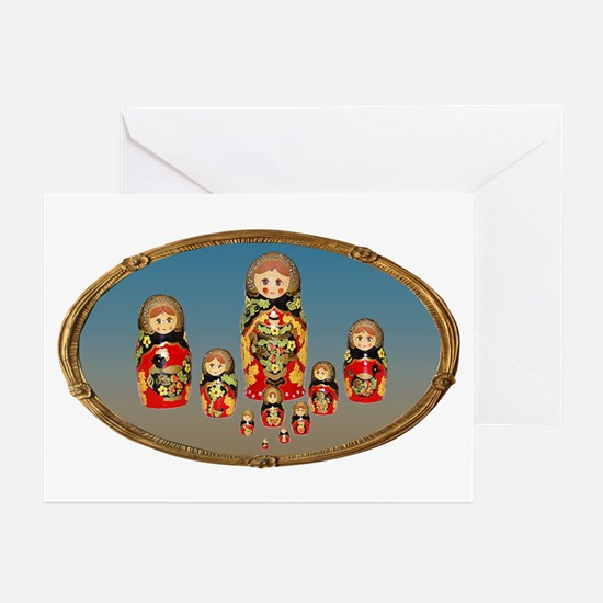 Russian Dolls Greeting Cards (Pk of 20)