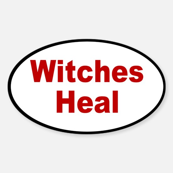 witches heal... Oval Decal