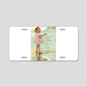 By The Ocean Aluminum License Plate
