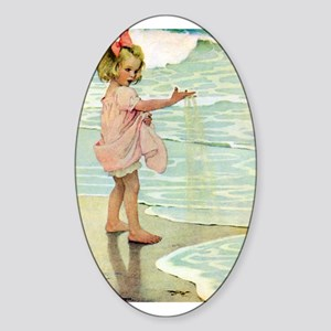 By The Ocean Sticker (Oval)