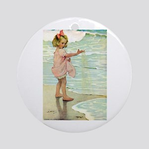 By The Ocean Ornament (Round)