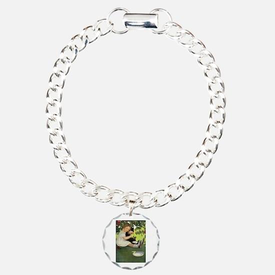 Love My Kitty Charm Bracelet, One Charm