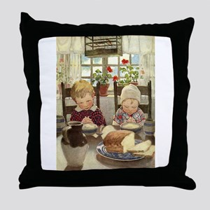 Saying Grace Throw Pillow