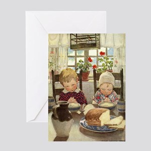 Saying Grace Greeting Card