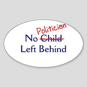 No Politician Oval Sticker