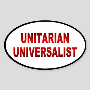 unitarian... Oval Sticker