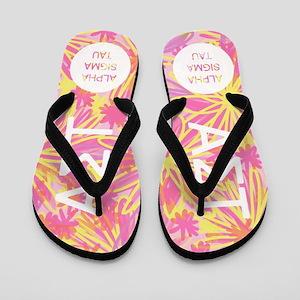 AlphaSigmaTau Tropical Pink Flip Flops