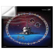 Discovery Space Shuttle Wall Decal