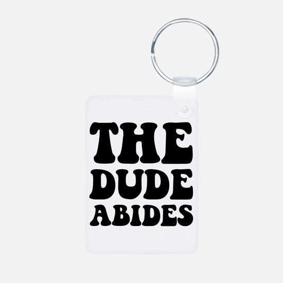The Dude Abides Keychains