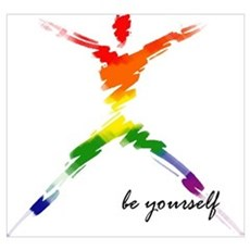 Gay Pride - Be Yourself Canvas Art