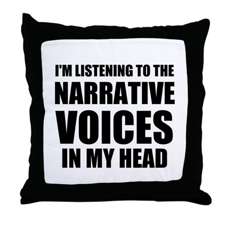 Narrative Voices in My Head Throw Pillow