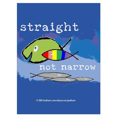 Straight But Not Narrow Canvas Art