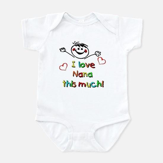 I Love Nana (Boy) Infant Bodysuit