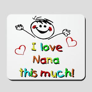 I Love Nana (Boy) Mousepad