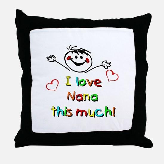 I Love Nana (Boy) Throw Pillow