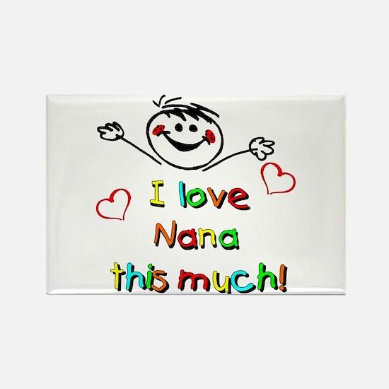 I Love Nana (Boy) Rectangle Magnet