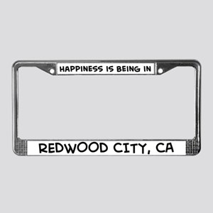 Happiness is Redwood City License Plate Frame