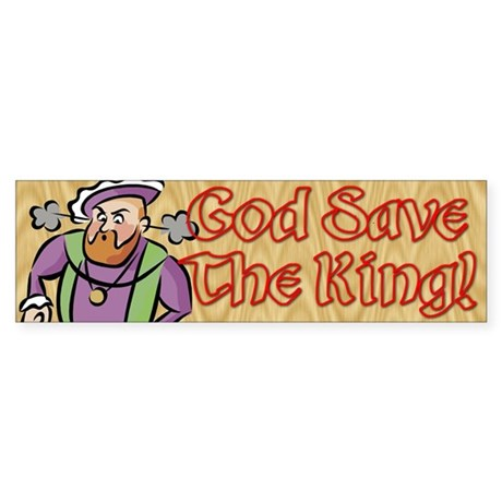 God Save the King Bumper Sticker