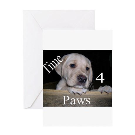 Time for Paws Greeting Card