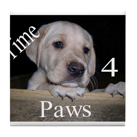 Time for Paws Tile Coaster