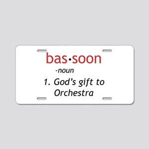 Bassoon Ninja Aluminum License Plate
