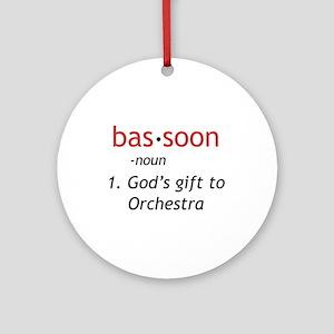 Bassoon Ninja Ornament (Round)