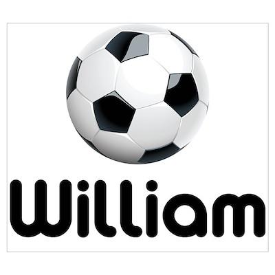 Soccer William Poster