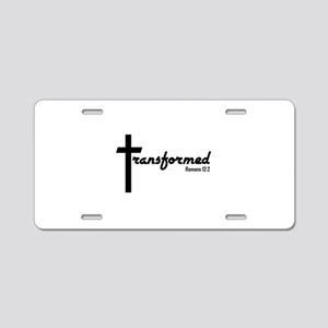Transformed - Romans 12:2 Aluminum License Plate