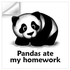 Pandas ate my homework Wall Decal